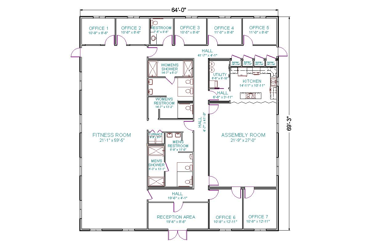 Modular fitness center tlc modular homes for Gym floor plan