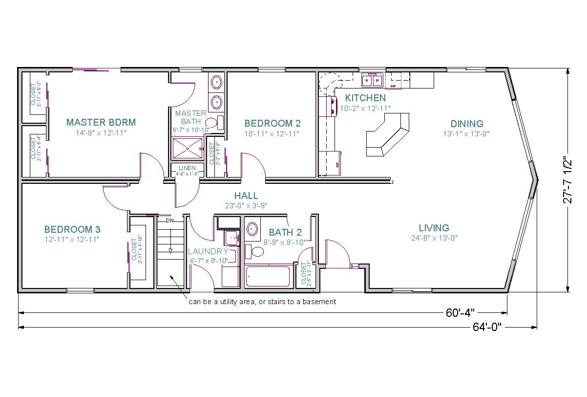 Ordinary Modular Homes With Basement Floor Plans #8: Centennial II Web Photo TLC Centennial II Floor Plan