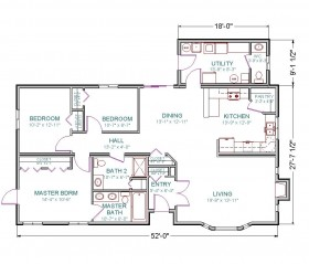 Modular ranch tlc modular homes for Flooring kennewick