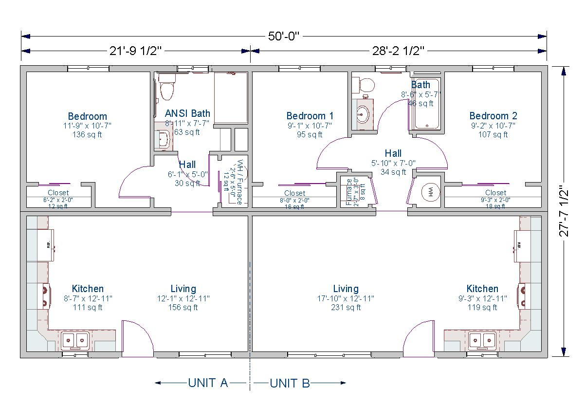 Duplex tlc modular homes for 2 bedroom 1 bath duplex floor plans