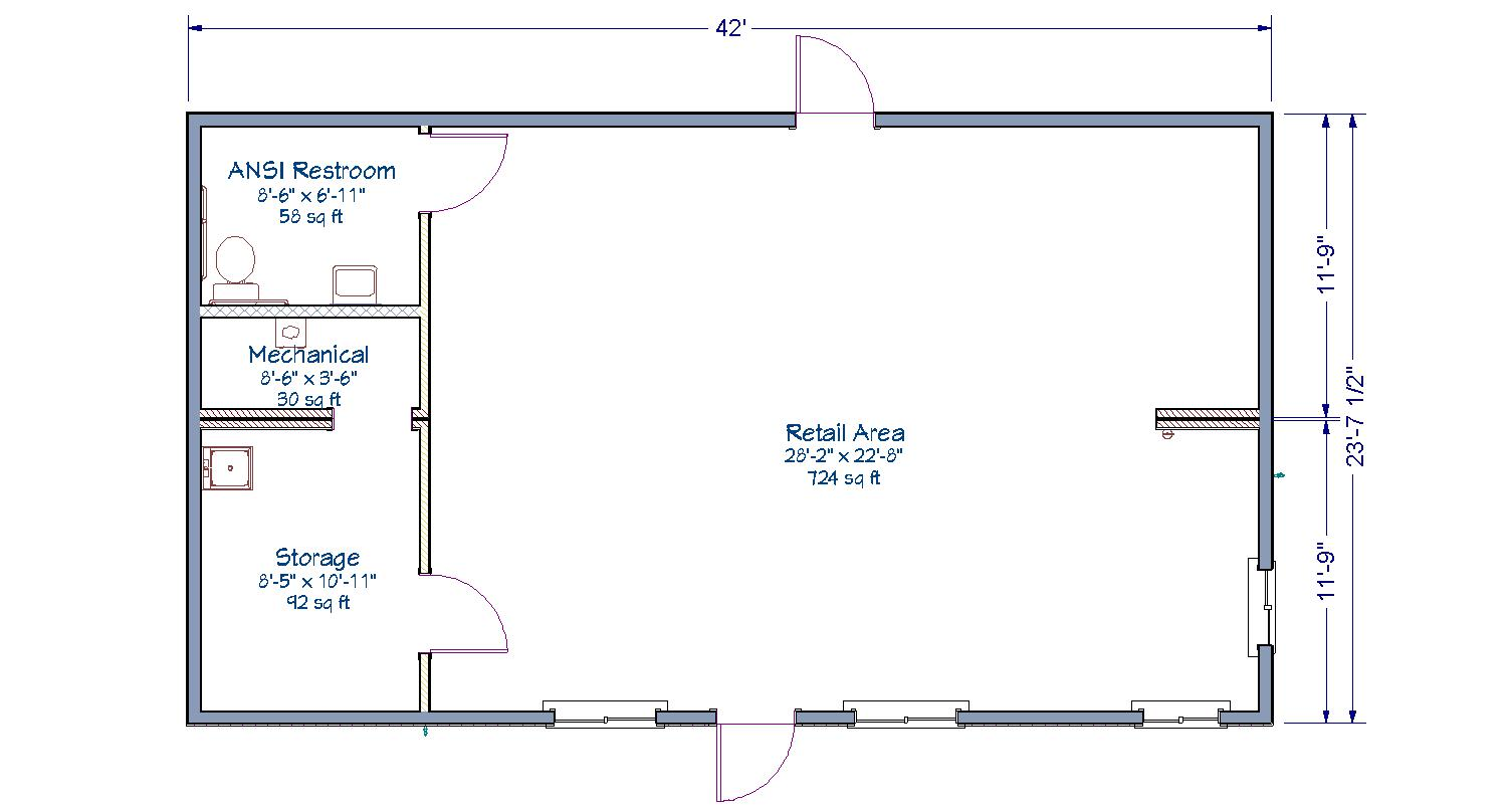 Retail store tlc modular homes for Retail store floor plan