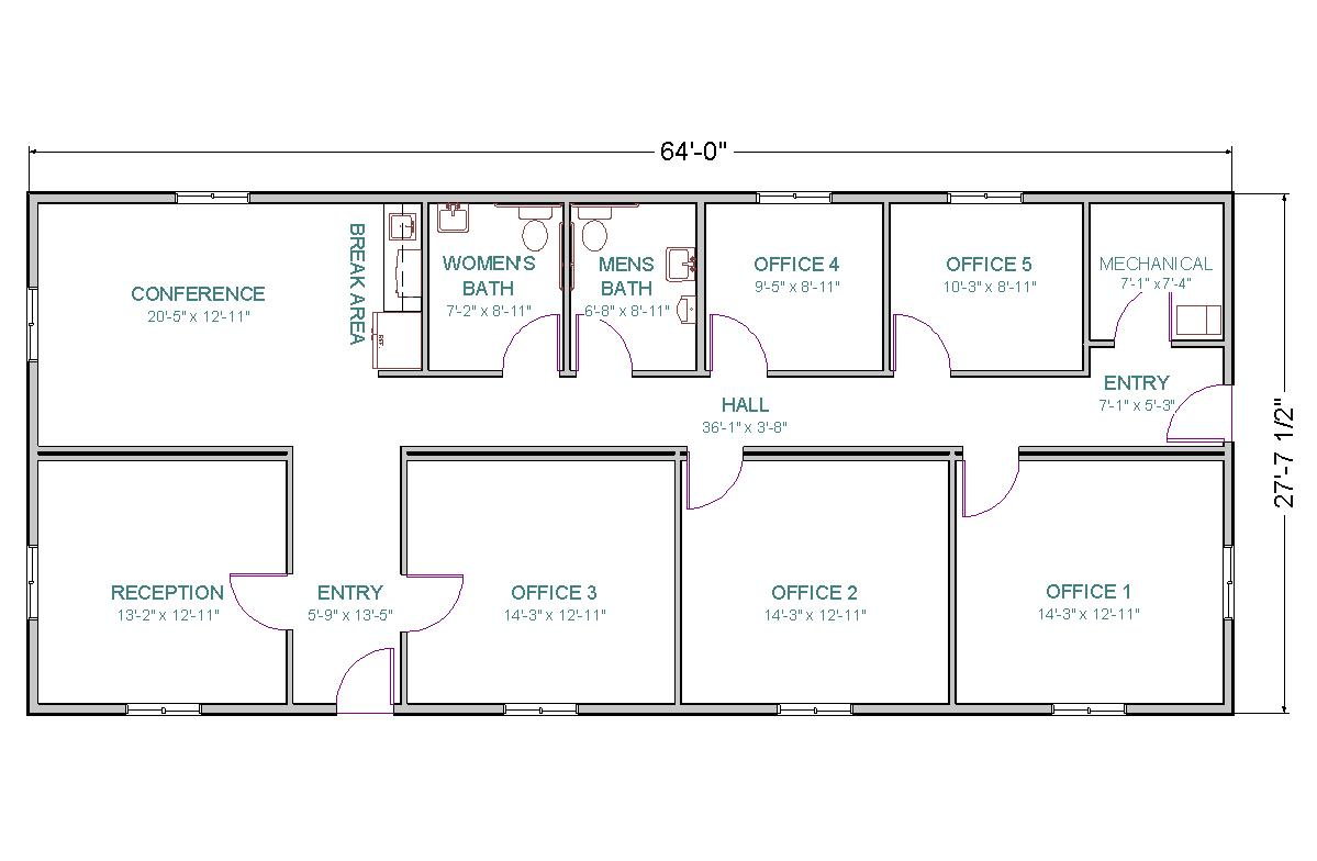 Small Office Building Floor Plans: Modular Office Or Control Center